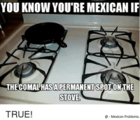 Follow us - Mexican Problems.: YOU KNOW YOU'REMEXICANIF  THE COMALHASA PERMANENTSPOT ONTHE  STOVE  TRUE!  Mexican Problems. Follow us - Mexican Problems.