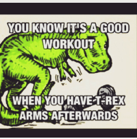 YOU KNOWHTISA GOOD  WORKOUT  WHEN YOU HAVE T REX  ARMS AFTERWARDS T-Rex arms anyone? . @officialdoyoueven 💪