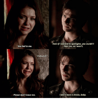 Love, Memes, and Death: You lied to me.  Please don't leave me.  Even ifi wanted to apologise, you couldn't  hear me, so i won't.  don't have a choice, baby. 5.22 • Requested by @tvdaddicti0n I hate and love this scene • Q: Damon's death or Stefan's death? [26,361]