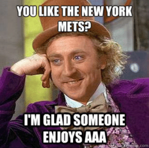 """NEW YORK METS MEMES image memes at relatably.com: YOU LIKE THE NEW YORK  METS?  I'M GLAD SOMEONE  ENJOYS AAA"""" NEW YORK METS MEMES image memes at relatably.com"""