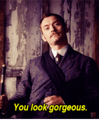 0 to 100, Anaconda, and Love: You lookgorgeous. hamishwatson: thefingerfuckingfemalefury:  bert-and-ernie-are-gay:  kluckleberry: #while bbc sherlock is at the stage where sherlock and john are finally discovering their love for each other #the movies have flown straight past flirting and into husband land Interviewer: Tell us about your relationship with Robert Downey Jr on set.Jude Law: Oh, I love him. I love him.Interviewer: Yeah? You had a bit of a bromance going on there.Jude Law: What is this new term everyone is using?Interviewer: Bromance?Jude Law: Oh, it's a horrible term. What about just a romance?Interviewer: No, it's not the same.Jude Law: Why not? Why?Interviewer: Cause then you'd have to star in a romantic comedy together or something.Jude Law: We just have. Have you not seen it? [x]  Jude Law does not have time for any of that 'No Homo' bullshit…  FuCK JUDE LAW WENT FROM 0 TO 100 REAL QUICK