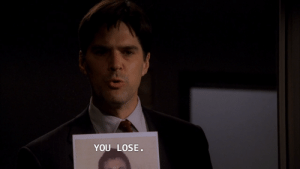 Target, Tumblr, and Blog: YOU LOSE. allrighting: Honestly NOTHING will ever go as hard as this moment. Season 1 Episode 14 absolute peak badassery, literally the guy is about to die and Hotch bops on in with this as the last thing the asshole sees