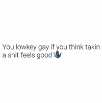 feels: You lowkey gay if you think takin  a shit feels good