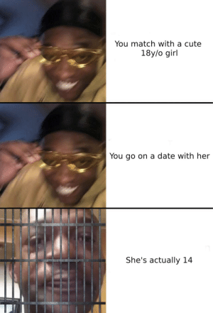 FBI, open up: You match with a cute  18y/o girl  You go on a date with her  She's actually 14 FBI, open up