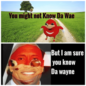 Ugandan Knuckles still alive by Apollo-Quan FOLLOW 4 MORE MEMES.: You might not Know Da Wae  But am sure  you know  Da wayne Ugandan Knuckles still alive by Apollo-Quan FOLLOW 4 MORE MEMES.