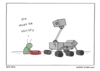 <p>Is the Alien&rsquo;s Name Rover?</p>: You  must be  thirsty.  ROVER  O liz climo  lizclimo.tumblr.com <p>Is the Alien&rsquo;s Name Rover?</p>