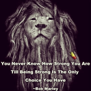 Rise!: You Never Know How Strong You Are  Till Being Strong Is The Only  Choice You Have  -Bob Marley Rise!