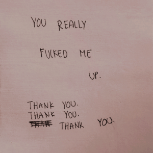 Thank You Thank You: YOU REALLY  FULFED ME  UP.  THANK YOU.  THANK YOU.  ATHANK  YOU