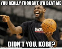 Fac, Meme, and Memes: YOU REALLY THOUGHT UTD BEAT ME  CHE  DIDNT YOU, KOBE?  Brought By Fac  ebook  m/NBA Memes King James gets the best of The Black Mamba!