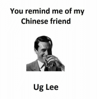 Instagram, Puns, and Twitter: You remind me of my  Chinese friend  Ug Lee Instagram: @punsonly Twitter: @puns_only