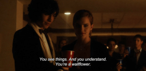 You, Wallflower, and Youre: You see things. And you understand  You're a wallflower.