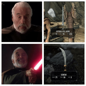 You see those warriors from Hammerfell? They've got curved swords! CURVED SWORDS!: You see those warriors from Hammerfell? They've got curved swords! CURVED SWORDS!