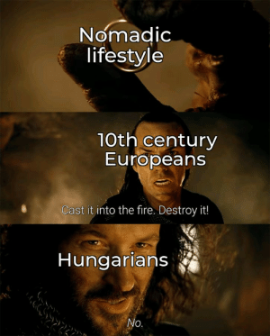 You see those warriors from Hungary? They've got curved swords. Curved. Swords.: You see those warriors from Hungary? They've got curved swords. Curved. Swords.
