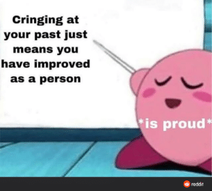 You should be proud of yourself :): You should be proud of yourself :)