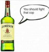 Dank, Irish, and Fight: You should fight  that cop  JAMESON  IRISH WHISKEY