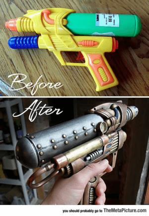 Club, Tumblr, and Blog: you should probably go to TheMetaPicture.com laughoutloud-club:  Steampunk Water Gun Looks Awesome