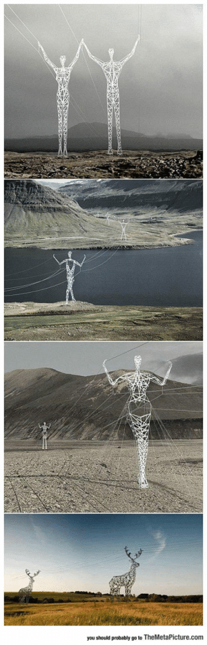 lolzandtrollz:Electric Poles In Iceland: you should probably go to TheMetaPicture.com lolzandtrollz:Electric Poles In Iceland