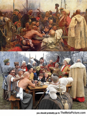 Tumblr, Blog, and Http: you should probably go to TheMetaPicture.com srsfunny:Old Painting Recreation Win