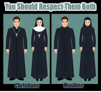 Memes, Respect, and Truth: You Should Respect Them Both  Muslims  Christians Nobody likes the uncomfortable truth 🙌🏽 respect