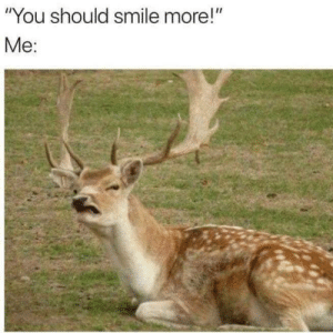 "Funny, Smile, and Via: ""You should smile more!""  Me: Why so serious? via /r/funny https://ift.tt/2yARBdF"