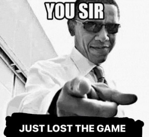 Meme, The Game, and Lost: YOU SIR  JUST LOST THE GAME have a good day :) just another meme I found :)