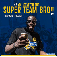 Draymond took the mic at the parade... and you can imagine what happened next.: YOU STARTED THE  SUPER TEAM BRO!!  11  LEBRON  uickle  OC CBS SPORTS Draymond took the mic at the parade... and you can imagine what happened next.