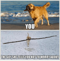 Woof...: YOU  THE GUYSHE TELLS YOU NOT TO WORRY ABOUT Woof...