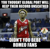 The Beast back at it again  Posted By: ‎Tracy Mcgravy: YOU THOUGHT GLOBAL PORT WILL  KEEP THEIR RECORD UNSCATHED  DIDNT YOU BEBE  ROMEO FANS  imgfip.com The Beast back at it again  Posted By: ‎Tracy Mcgravy