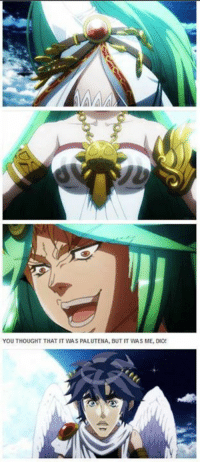 YOU THOUGHT THAT IT WAS PALUTENA, BUT IT WAS ME, DIO! BOOM! -W33dle