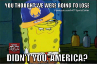Warriors fans currently: #NBAFinals https://t.co/fRru7lPYfT: YOU THOUGHT WE WERE GOING TO LOSE  Facebook.com/NOTSportsCenter  DIDNT VOU AMERICA  DOWNLOAD MEME GENERATOR FROM HTTP://MEMECRUNCH.COM Warriors fans currently: #NBAFinals https://t.co/fRru7lPYfT