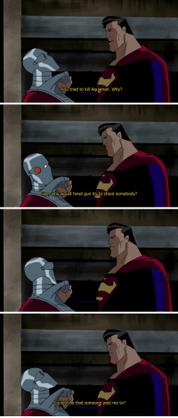 """<p><a class=""""tumblr_blog"""" href=""""http://christopher-reeve.tumblr.com/post/145819003156"""" target=""""_blank"""">christopher-reeve</a>:</p> <blockquote> <p>remember that time superman got totally owned by deadshot</p> </blockquote>: You tried to kill Aquaman. Why?   Gee,why would hired gun try to shoot somebody?   Could it be that someone paid me to? <p><a class=""""tumblr_blog"""" href=""""http://christopher-reeve.tumblr.com/post/145819003156"""" target=""""_blank"""">christopher-reeve</a>:</p> <blockquote> <p>remember that time superman got totally owned by deadshot</p> </blockquote>"""