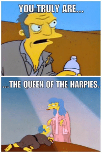 """""""Here's your crown, your majesty!"""" 👑😂  Credit: Andy Kyriacou: YOU TRULY ARE  THE QUEEN OF THE  HARPIES """"Here's your crown, your majesty!"""" 👑😂  Credit: Andy Kyriacou"""