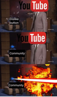 Community, youtube.com, and Tube: You  Tube  Dislike  button  2o  oul  uTube  Community  Community Searching for YouTube alternatives just in case