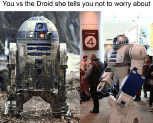 Droid, She, and You: You vs the Droid she tells you not to worry about  Skybidge  4