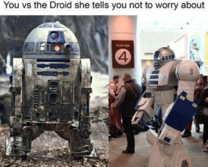 Droid, She, and You: You vs the Droid she tells you not to worry about  Skybridge  4 Droid problems.