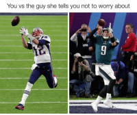 Football, Nfl, and Sports: You vs the guy she tells you not to worry about  @GhettoGronk 💀💀💀 https://t.co/WH68Il2NYB
