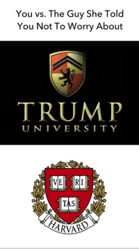 The Guy She Told You Not To Worry About TRUMP UNIVERSITY VE TAS 150a58d6f2