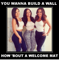 Keep our options open and our borders: YOU WANNA BUILD A WALL  HOW 'BOUT A WELCOME MAT Keep our options open and our borders