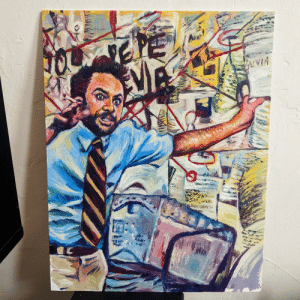 You wanna talk about stress? oil on canvas.: You wanna talk about stress? oil on canvas.