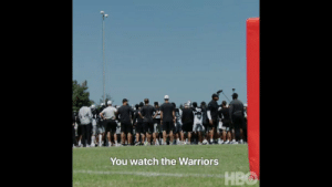 """""""Next man up!""""   Jon Gruden heads into his second year with the @Raiders.   Tune in tonight for the first episode of Hard Knocks on @HBO starting at 10pm ET/PT. https://t.co/yLVDenFdt9: You watch the Warriors  НВО """"Next man up!""""   Jon Gruden heads into his second year with the @Raiders.   Tune in tonight for the first episode of Hard Knocks on @HBO starting at 10pm ET/PT. https://t.co/yLVDenFdt9"""