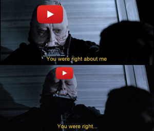 It's sad that Youtube actually fixed rewind this year and made it about the creators, the exact thing that we've wanted this whole time, and you people are still finding every little thing wrong with it as an excuse to dislike it. Appreciate rewind this year for actually being about the creators.: You were right about me  You were right... It's sad that Youtube actually fixed rewind this year and made it about the creators, the exact thing that we've wanted this whole time, and you people are still finding every little thing wrong with it as an excuse to dislike it. Appreciate rewind this year for actually being about the creators.