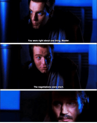 Obi wan told the worst joke in the Star Wars movies 😂: You were right about one thing, Master.  The negotiations were short. Obi wan told the worst joke in the Star Wars movies 😂