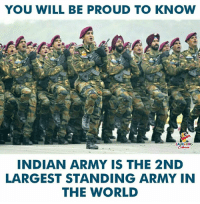 <3 🇮🇳️: YOU WILL BE PROUD TO KNOW  LAUGHING  INDIAN ARMY IS THE 2ND  LARGEST STANDING ARMY IN  THE WORLD <3 🇮🇳️