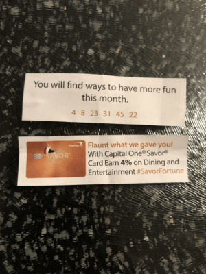 Dank, Memes, and Target: You will find ways to have more fun  this month  4 8 23 31 45 22  Flaunt what we gave you  With Capital One Savor®  Card Earn 4% on Dining and  Entertainment Is there nothing sacred. by Aaronkatz20 MORE MEMES
