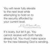 You Will Never Fully Elevate to the Next Level While Attempting to