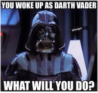 Darth Vader: YOU WOKE UP AS DARTH VADER  BPledger  WHAT WILL YOU DO?