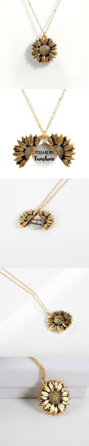 livelaughlovematters:  fusselkuchen: anxie-teaa:   manicprincess13:   pleasingly-aesthetics:  This Sunflower Necklace has a hidden message that reveals You Are My Sunshine! Brighten someone's day with one of these adorable Necklace! Remind your friends, family or special someone of your undying love with this stunning piece of jewelry. => YOU CAN GET YOURS HERE <=   This is so beautiful 😍    Hi, I'll take ten.    I just immediately bought one. they're just too pretty   I just received mine in the mail a few days ago and it's gorgeous!: YOUARE MY  Sunhuno   YOUARE MY  Sunghune livelaughlovematters:  fusselkuchen: anxie-teaa:   manicprincess13:   pleasingly-aesthetics:  This Sunflower Necklace has a hidden message that reveals You Are My Sunshine! Brighten someone's day with one of these adorable Necklace! Remind your friends, family or special someone of your undying love with this stunning piece of jewelry. => YOU CAN GET YOURS HERE <=   This is so beautiful 😍    Hi, I'll take ten.    I just immediately bought one. they're just too pretty   I just received mine in the mail a few days ago and it's gorgeous!
