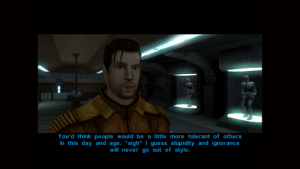 Love, Guess, and Ignorance: You'd think people would be a little more tolerant of others  in this day and age. *sigh* | guess stupidity and ignorance  will never go out of style. I've been playing KOTR recently and I love Carth's dialogue