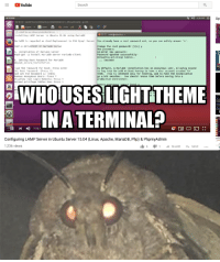 Behemoth? Yes, he be.: Youlube  Search  a,  Up  nstalling LANP S ver in Ubuntu 15.04 using Par La  arLacD La regarded as Good RepLacerent to Old Pysq Server  Lready have root passvord set, sa you can safely arsver  ge the rost password? [n] y  Passhord spcatet successfully  loading pririlese tables  apt-get -y tnstall neriadb-server rarlatb-cltent  Setting Root Password for Martace  nysqt serure installation  Success t  ype the a55ord for ReotI Fress inter  r defeult, a Herlaou tnstallatien hes an nosynous user, aiming anyone  e hts 1s intenced onty tor testig, and to rake the Lestallation  bit sncother. You should reneve then before moving into a  Reload privllege Tables No:PresSY  WHO USES IGHTTHEME  IN A TERMINALP  II  735/  Configuring LAMP Server in Ubuntu Server 15.04 (Linux, Apache, MariaDB, Php) & PhpmyAdmin  1,236 views Behemoth? Yes, he be.