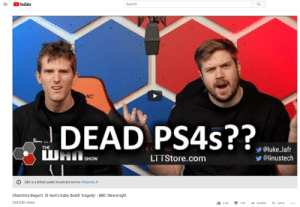 Dead baby PS4's: Youlube  Search  luke lafr  @linustech  ck C  ou  LTTStore.com  SHOW  O BBC is a British public broadcast service Wikipedia  Shamima Begum: IS teen's baby death 'tragedy' - BBC Newsnight  326,540 views  1.2.4k יר10K SHARE Ft SAVE Dead baby PS4's